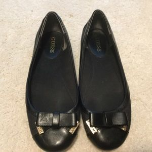 Guess Black Flats Size 9
